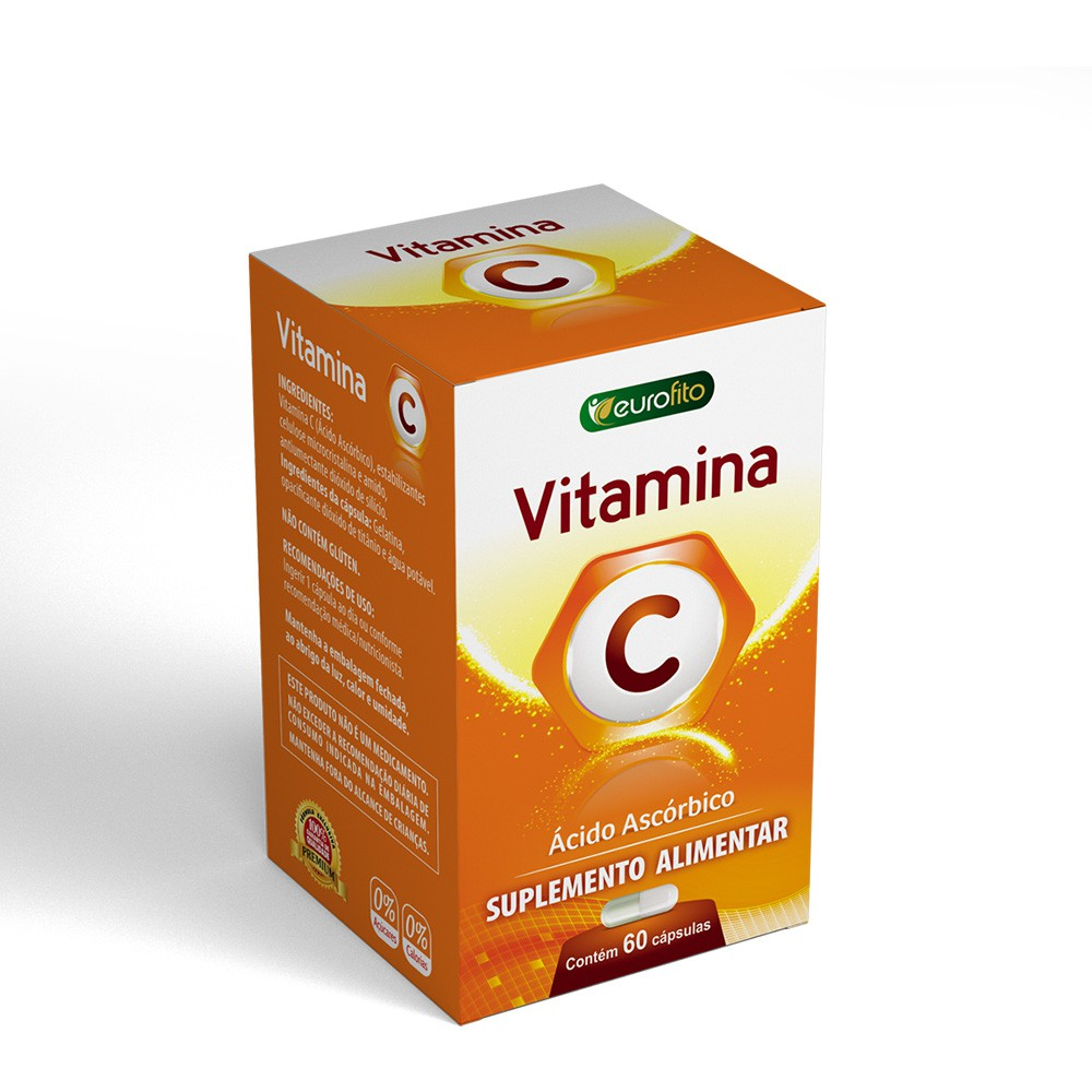 Vitamina c 500mg c/ 60 caps - eurofito