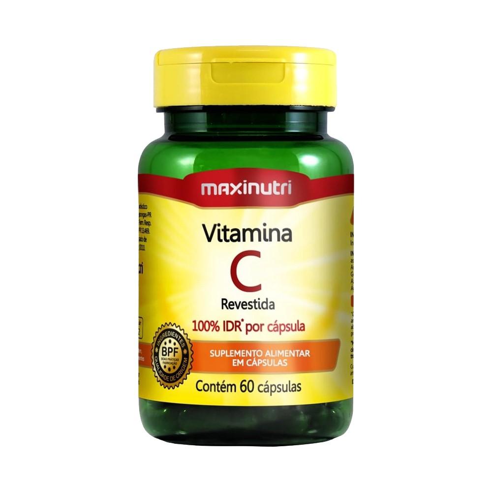 Vitamina c - c/ 60 caps revestidas - maxinutri