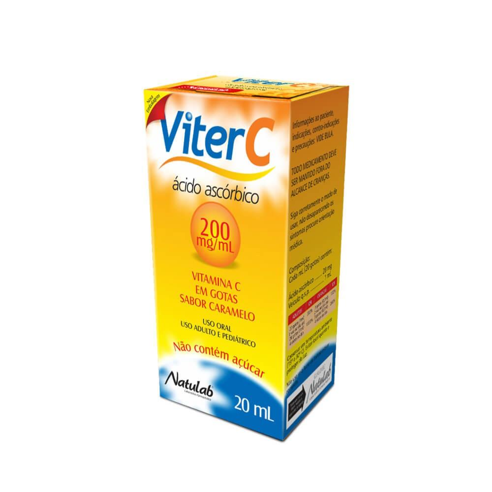 VITAMINA C - VITER C 20ML SABOR CARAMELO