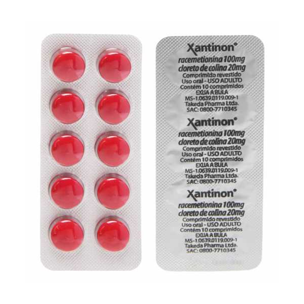 Xantinon Complex B12 - 100/20mg Com 10 Comprimidos