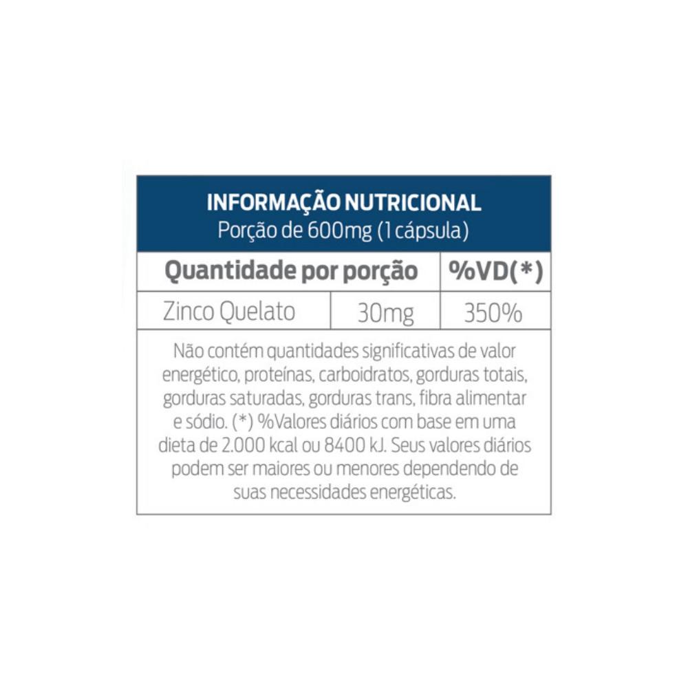 ZINCO QUELATO - IMUNOMAX FORMULA 350% IDR - REFORÇO DO SISTEMA IMUNOLÓGICO - C/ 30 CPS - NUTRILIBRIUM