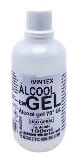 Alcool em gel (100ml) - Vintex