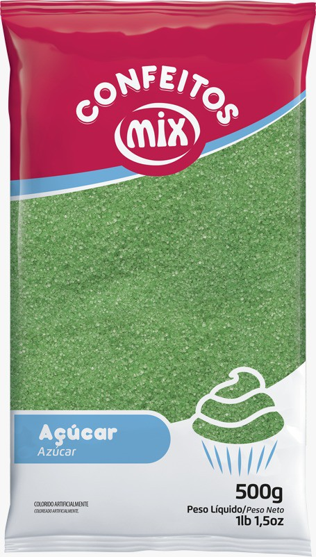 Áçucar Cristal Verde 500gr - Mix