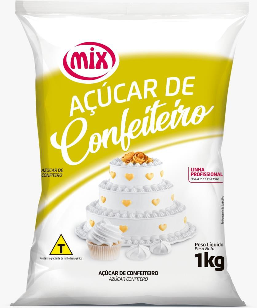Açúcar de Confeiteiro 1kg - Mix.