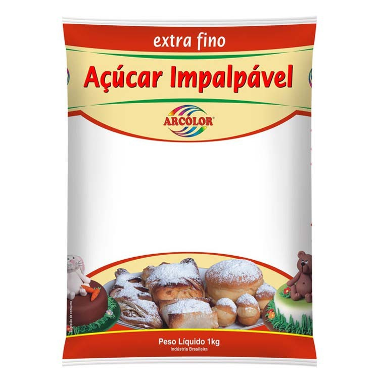 Açúcar Impalpável Extra Fino - Arcolor