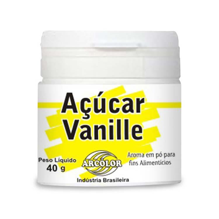 Açúcar Vanille 40gr - Arcolor.