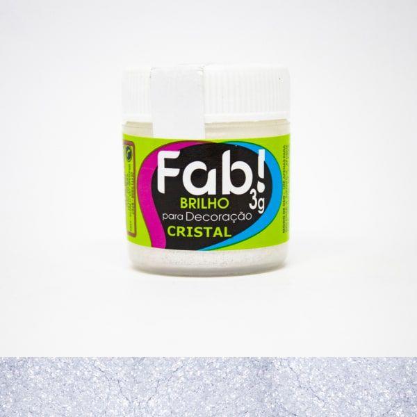Brilho p/ Decoração Cristal 3g - Fab