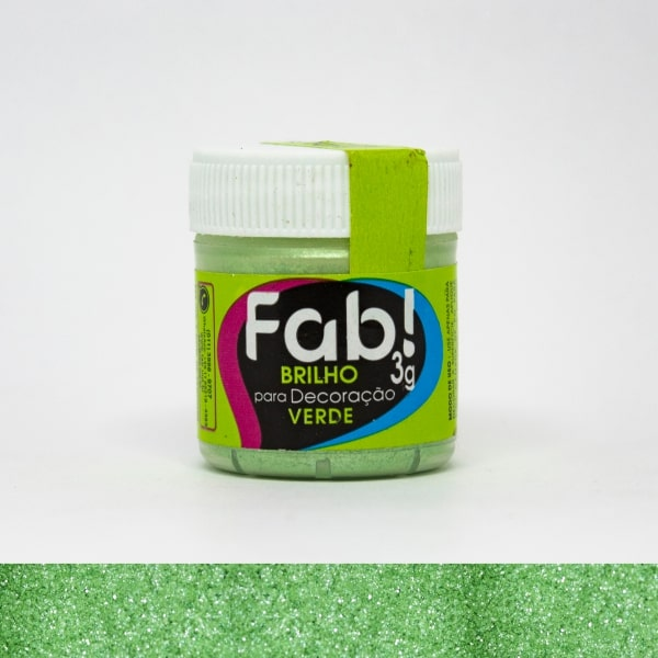 Brilho p/ Decoração Verde 3g - Fab