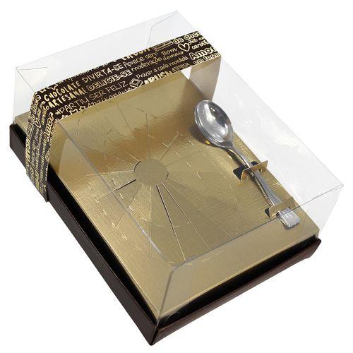 Caixa p/ Ovo de Páscoa Classic 250gr Gold 5un - Idéia