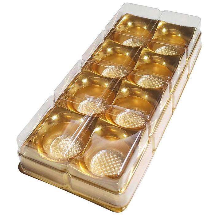 Caixa Plástica p/ Doces 8 Cavidades Ouro - Flip Festas