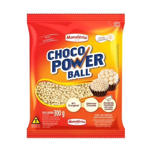 Choco Power Ball Micro Chocolate Branco 300gr - Mavalério