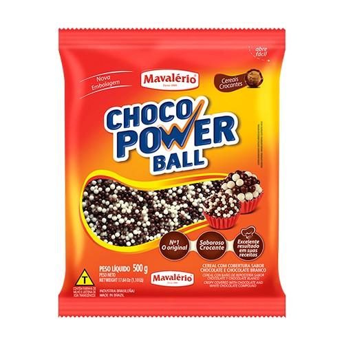 Choco Power Ball Micro Chocolate Branco 500gr - Mavalério