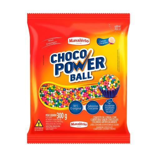 Choco Power Ball Micro Colorido 300gr - Mavalério