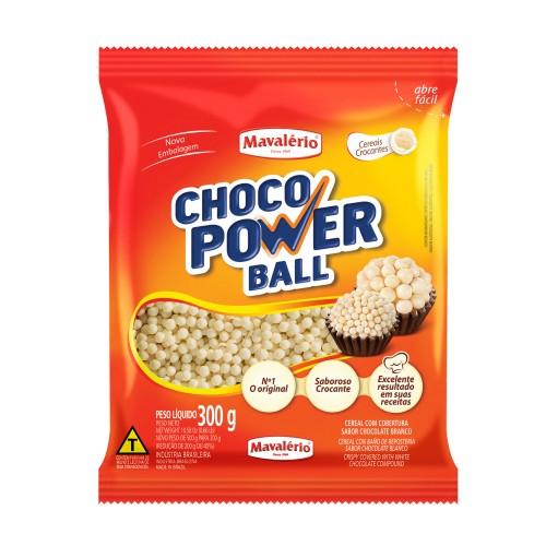 Choco Power Ball Mini Chocolate Branco 300gr - Mavalério