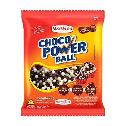 Choco Power Ball Mini Chocolate Branco 500gr - Mavalério