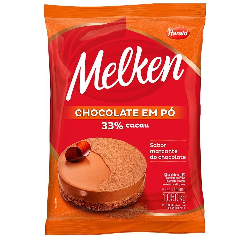 Chocolate em Pó Melken 33% Cacau 1,05kg - Harald