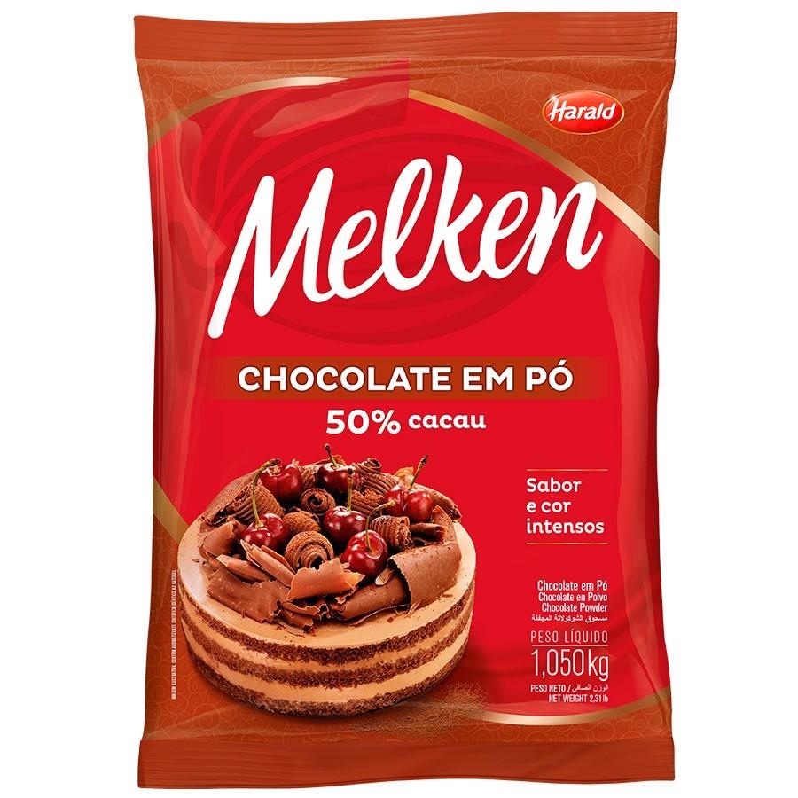 Chocolate em Pó Melken 50% Cacau 1,05kg - Harald