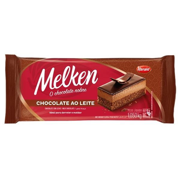 Chocolate Melken Ao Leite Barra 1,05Kg - Harald