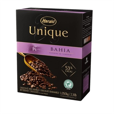 Chocolate Unique Bahia 53% Gotas 1,05Kg - Harald