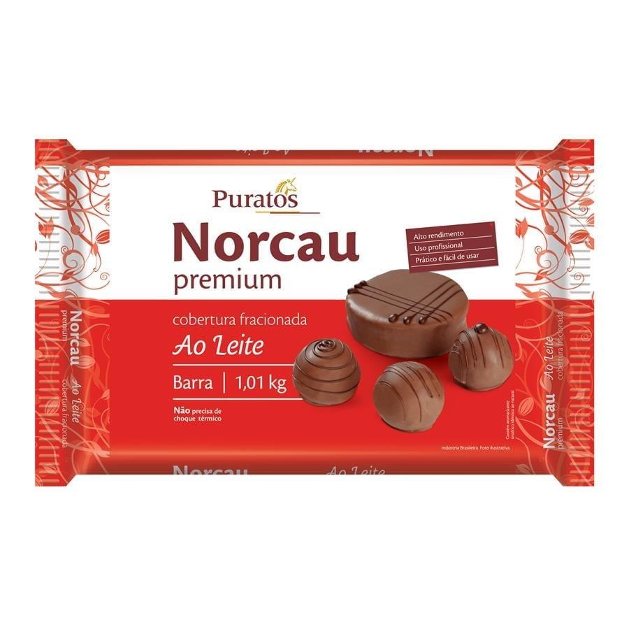 Cobertura Barra Norcau Premium Ao Leite 1,01kg - Puratos