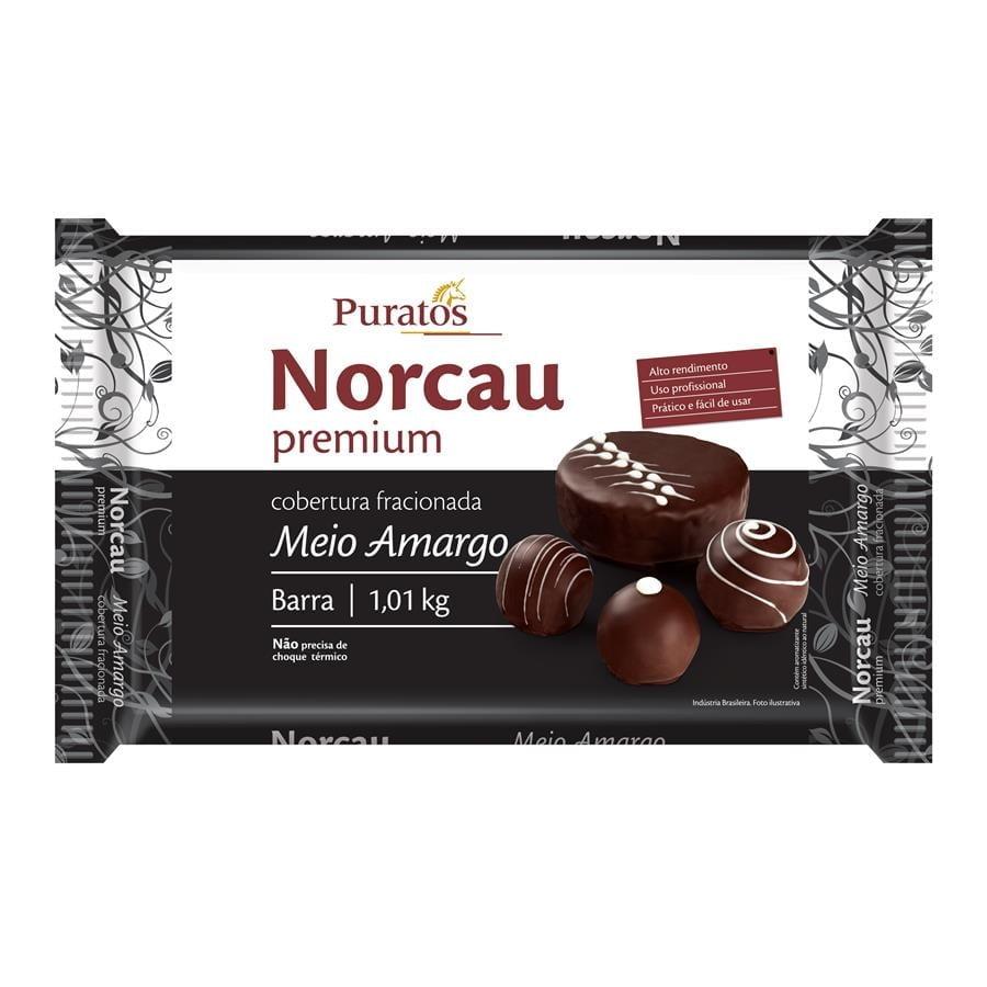 Cobertura Barra Norcau Premium Meio Amargo 1,01kg - Puratos