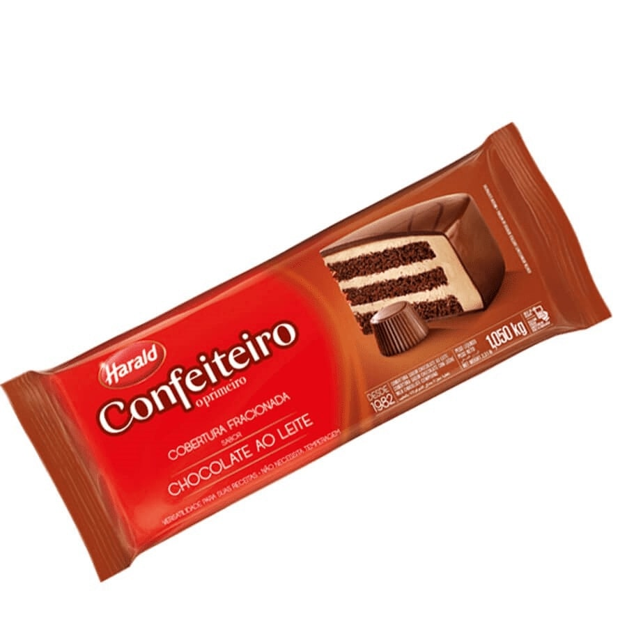 Cobertura Confeiteiro Barra Chocolate ao Leite 1,05Kg - Harald