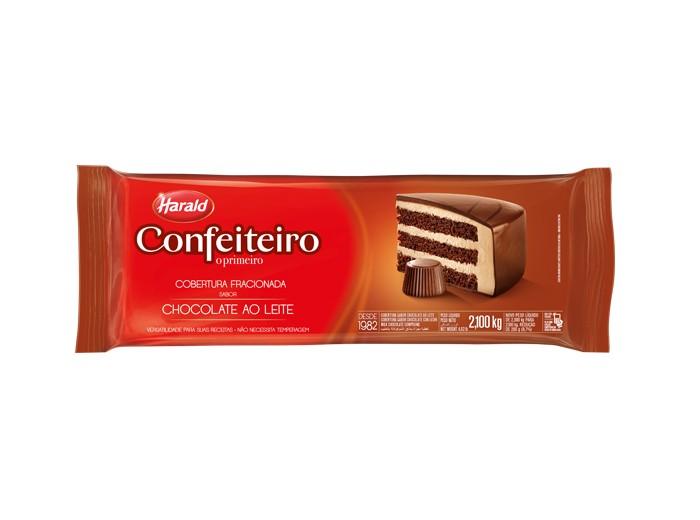 Cobertura Confeiteiro Barra Chocolate ao Leite 2,1Kg - Harald