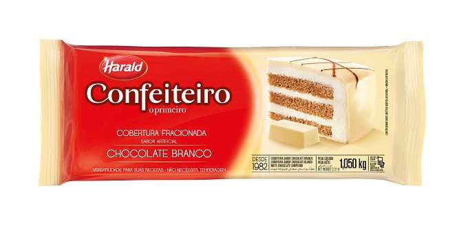 Cobertura Confeiteiro Barra Chocolate Branco 1,05Kg - Harald