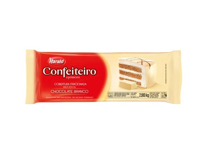 Cobertura Confeiteiro Barra Chocolate Branco 2,1Kg - Harald