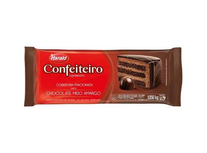 Cobertura Confeiteiro Barra Chocolate Meio Amargo 1,05Kg - Harald