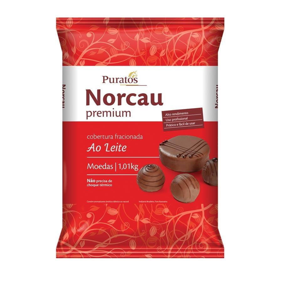 Cobertura Moeda Norcau Premium Ao Leite 1,01kg - Puratos