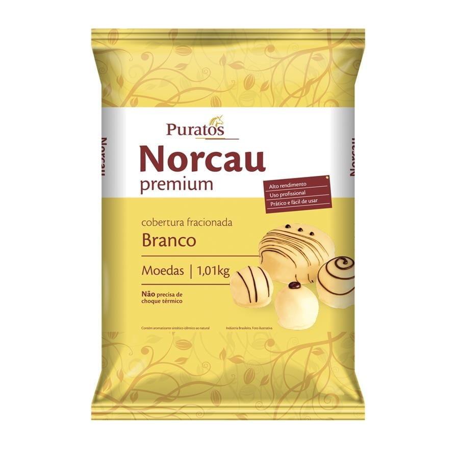 Cobertura Moeda Norcau Premium Branco 1,01kg - Puratos
