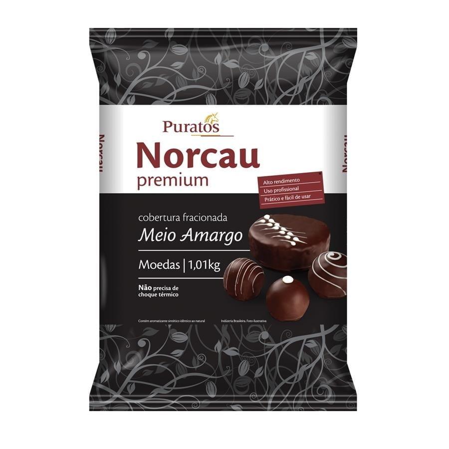 Cobertura Moeda Norcau Premium Meio Amargo 1,01kg - Puratos