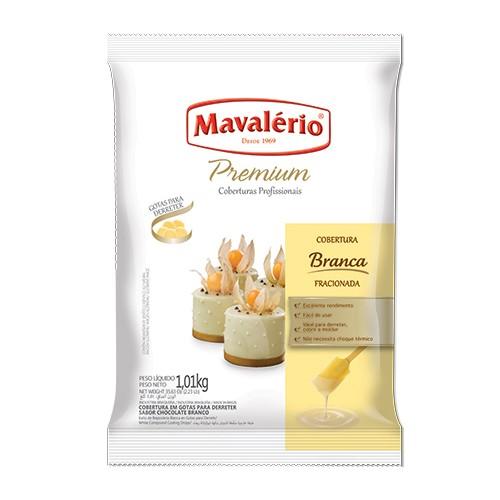Cobertura Premiun Gotas Chocolate Branco 1,01kg - Mavalério