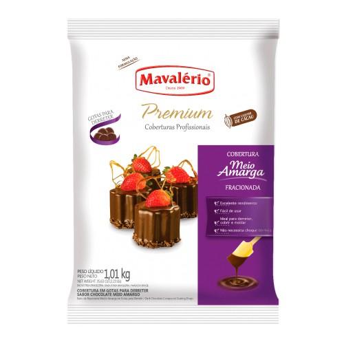 Cobertura Premiun Gotas Chocolate Meio Amargo 1,01kg - Mavalério