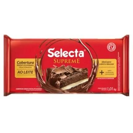Cobertura Supreme Barra Chocolate ao Leite 1,01kg - Selecta
