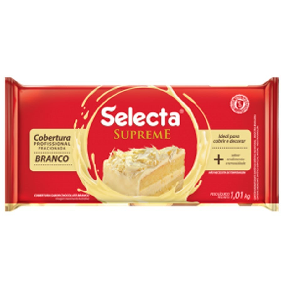 Cobertura Supreme Barra Chocolate Branco 1,01kg - Selecta