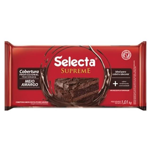 Cobertura Supreme Barra Chocolate Meio Amargo 1,01kg - Selecta