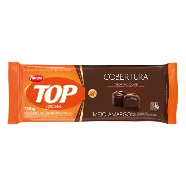 Cobertura Top Barra Chocolate Meio Amargo 2,1Kg - Harald