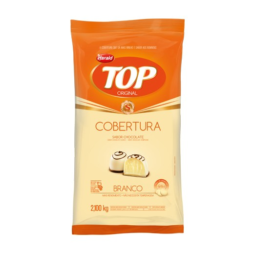 Cobertura Top Gotas Chocolate Branco 2,1Kg - Harald