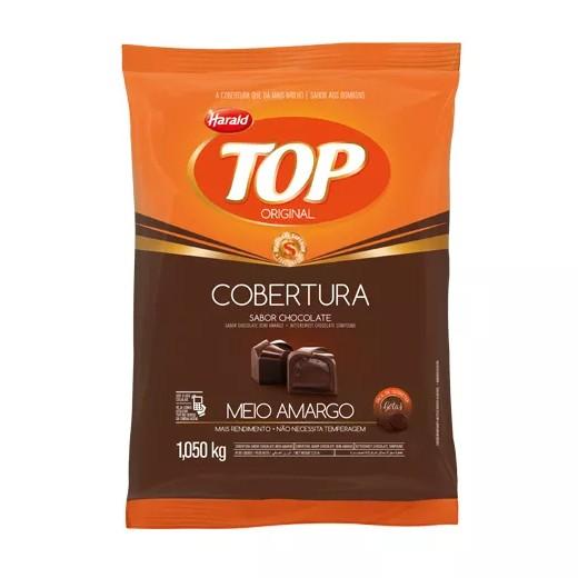 Cobertura Top Gotas Chocolate Meio Amargo 1,05Kg - Harald