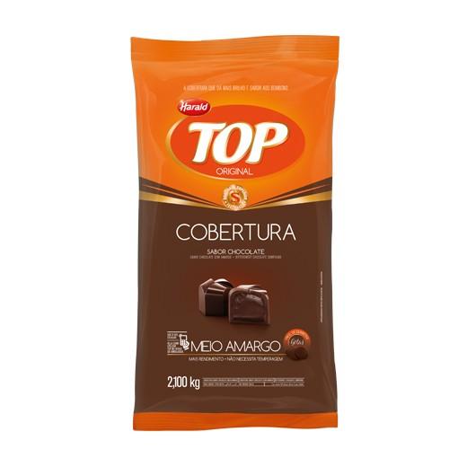 Cobertura Top Gotas Chocolate Meio Amargo 2,1kg - Harald