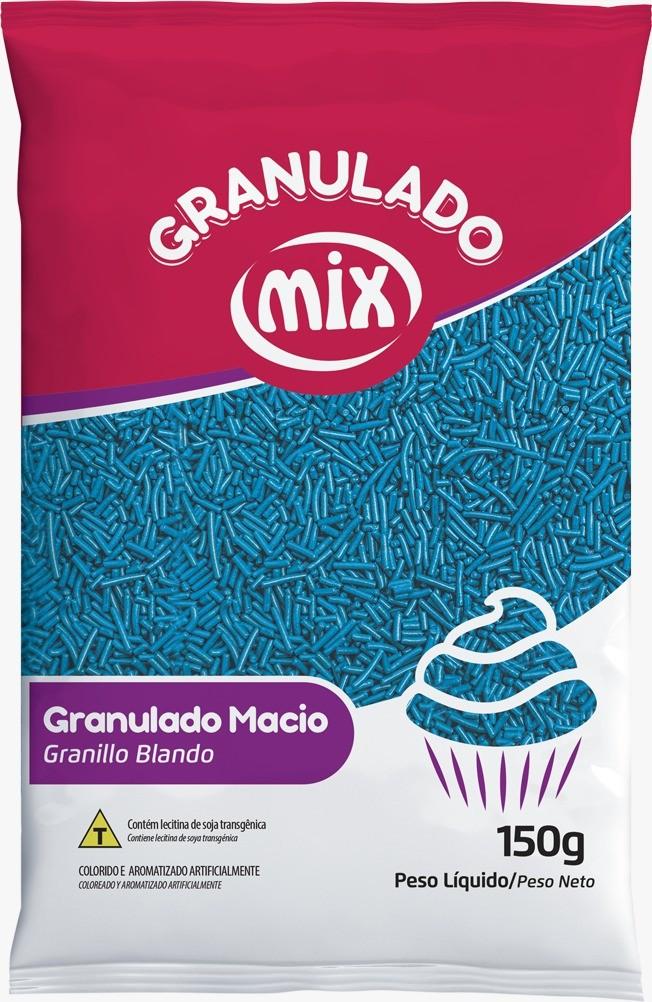 Confeito Granulado Macio Azul 150g - Mix