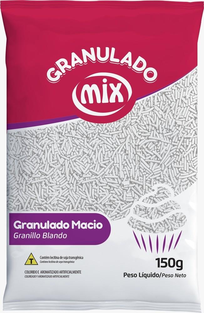 Confeito Granulado Macio Branco 150g - Mix