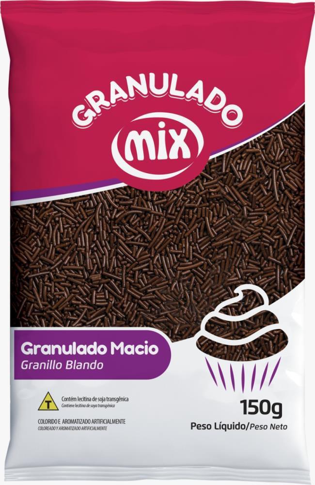 Confeito Granulado Macio Escuro 150gr - Mix