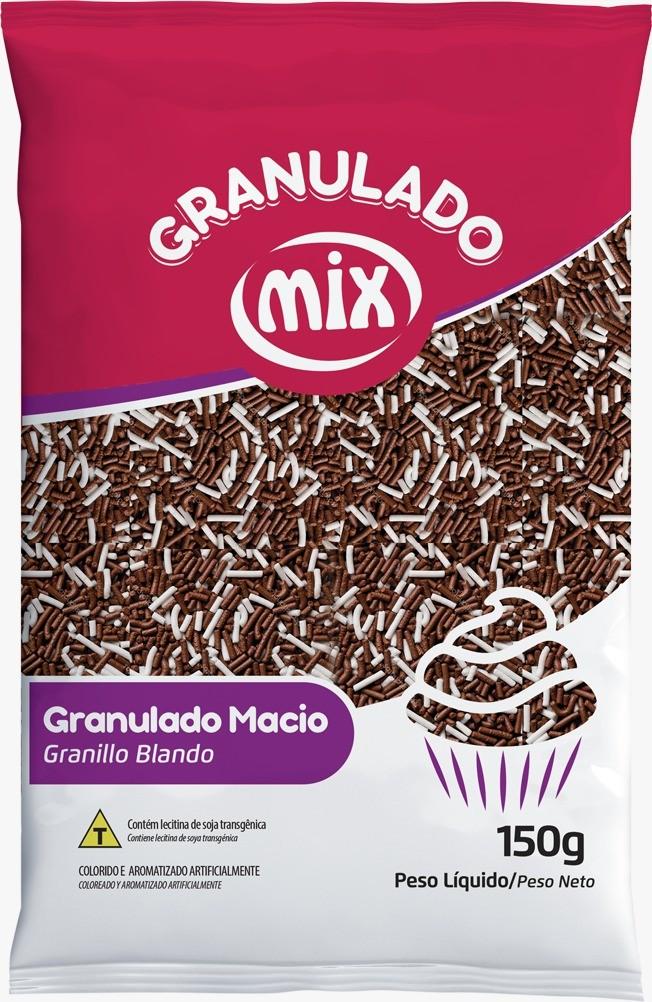 Confeito Granulado Macio Mesclado 150gr - Mix