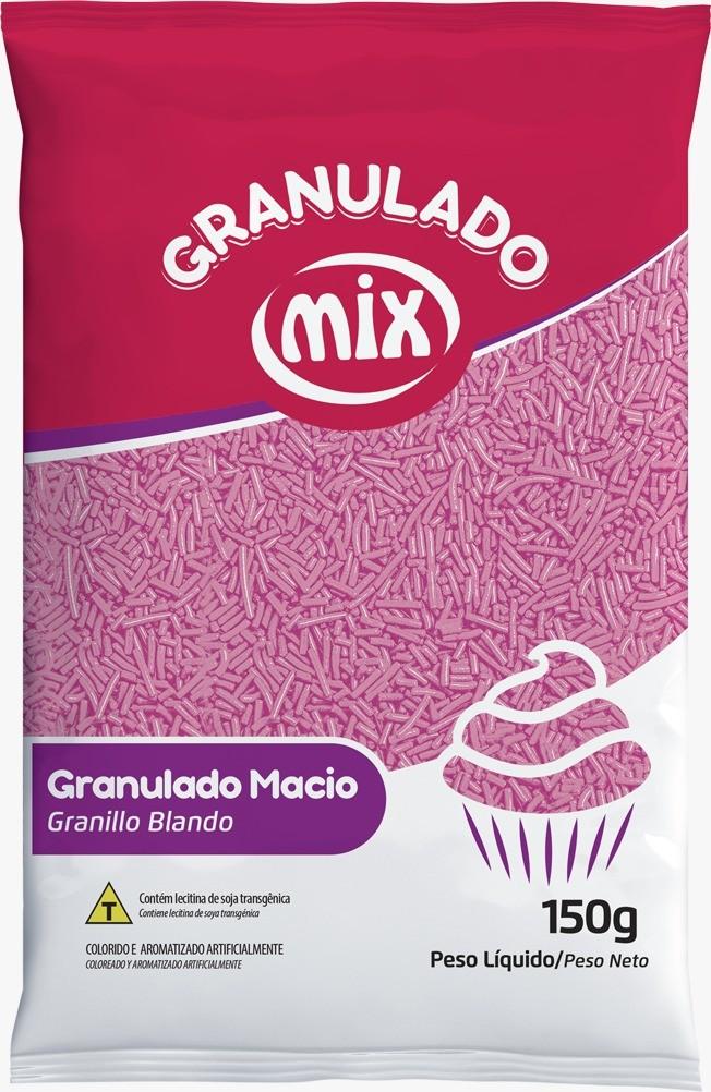 Confeito Granulado Macio Rosa 150g - Mix