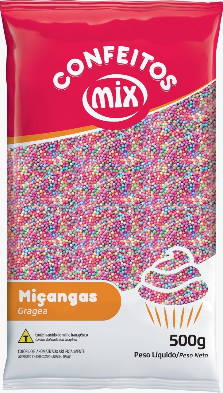 Confeito Miçanga Candy Colors - Mix