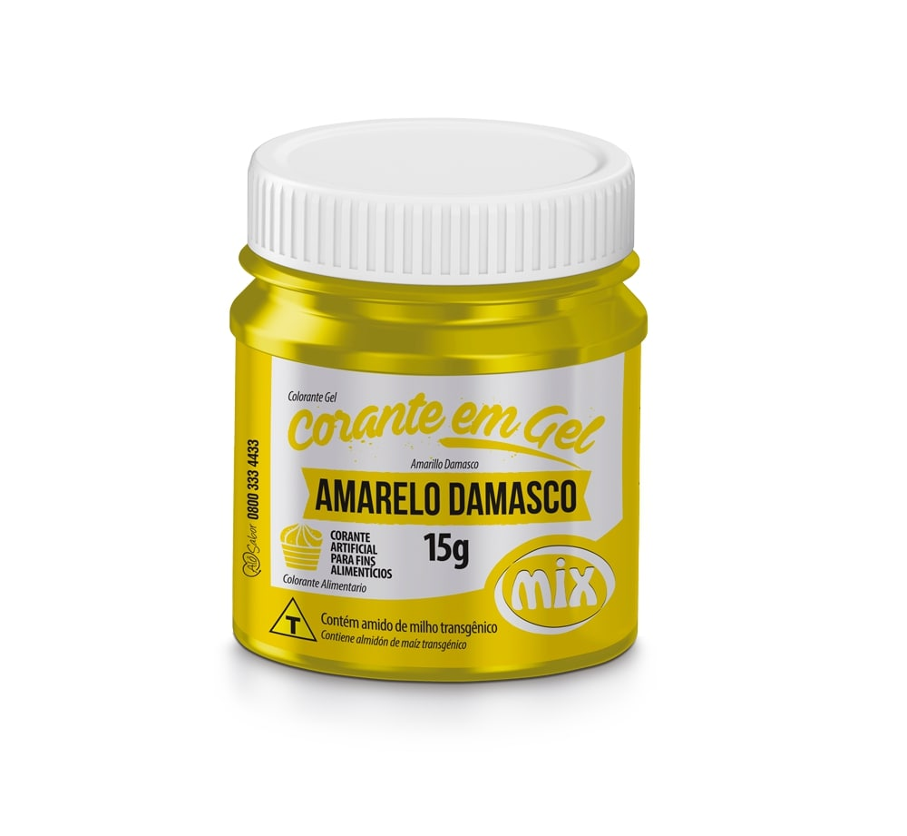 Corante em Gel Amarelo 15g - Mix