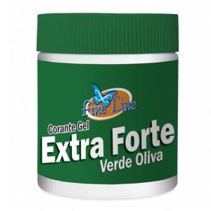 Corante em Gel Extra Forte Verde Oliva 50g- Fineline